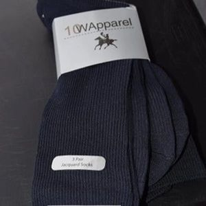Men's navy blue dress socks